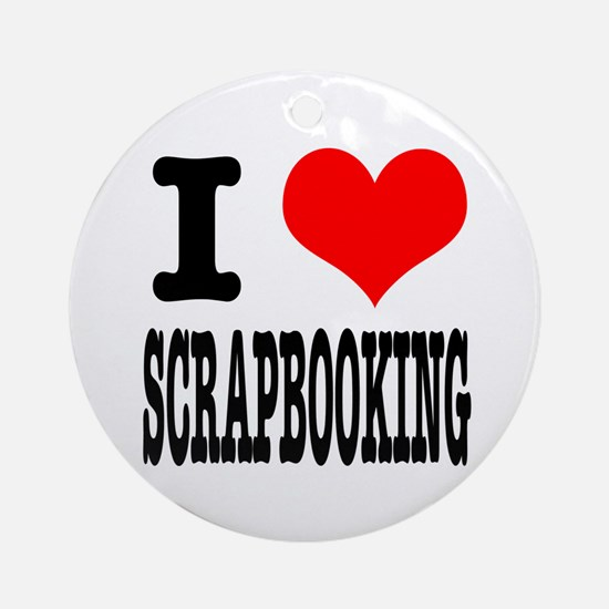 I Heart (Love) Scrapbooking Ornament (Round)