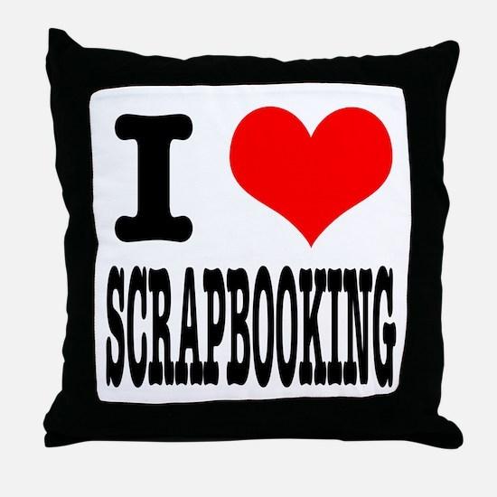 I Heart (Love) Scrapbooking Throw Pillow