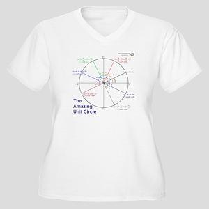 Amazing Unit Circle Women's Plus V-Neck T-Shirt