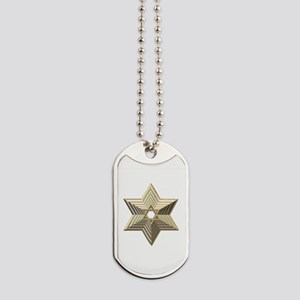 3-D Silver and Gold Star of David Dog Tags
