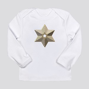 3-D Silver and Gold Star of David Long Sleeve Infa