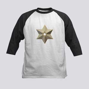 3-D Silver and Gold Star of David Kids Baseball Je