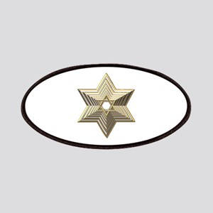 3-D Silver and Gold Star of David Patches