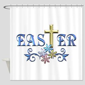 Easter Cross Shower Curtain