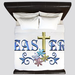Easter Cross King Duvet