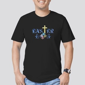 Easter Cross Men's Fitted T-Shirt (dark)