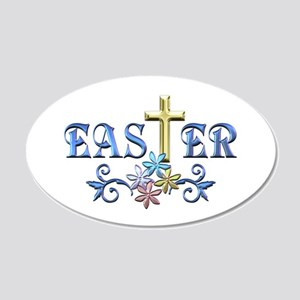 Easter Cross 20x12 Oval Wall Decal