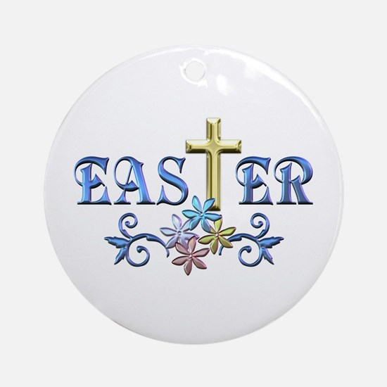 Easter Cross Ornament (Round)