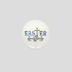 Easter Cross Mini Button