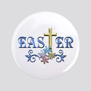 "Easter Cross 3.5"" Button"