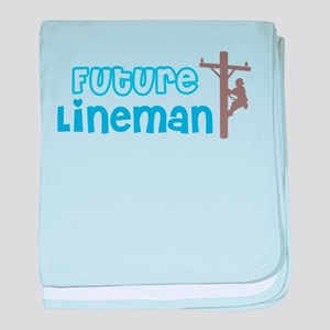 Future Lineman Baby Blanket