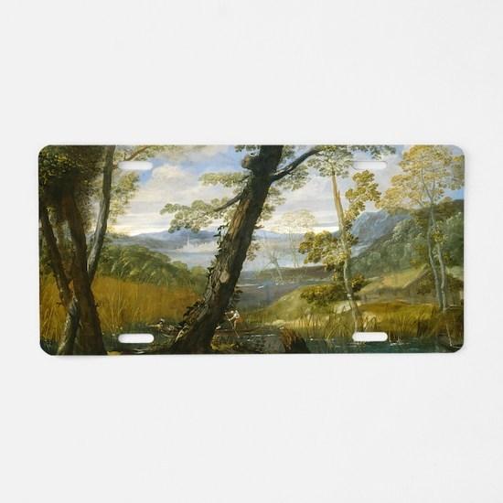 Annibale Carracci - River L Aluminum License Plate
