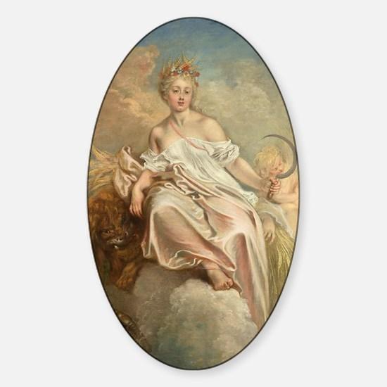 Antoine Watteau - Ceres (Summer) Sticker (Oval)