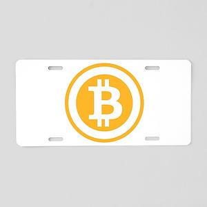 Bitcoin Aluminum License Plate