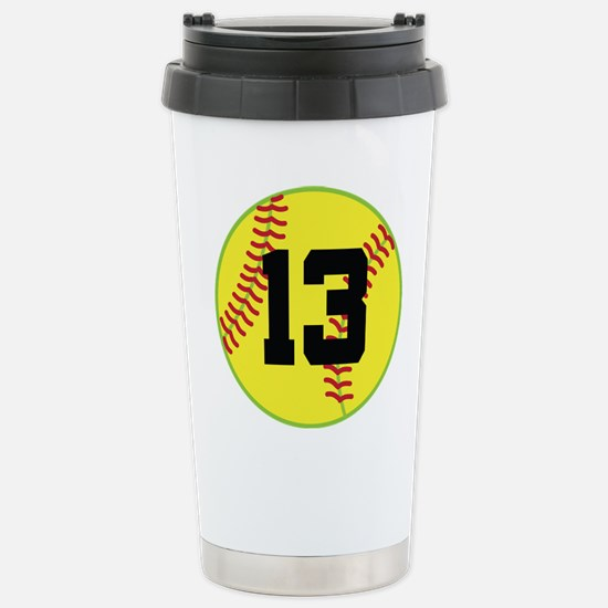 Softball Sports Player Number 13 Stainless Steel T