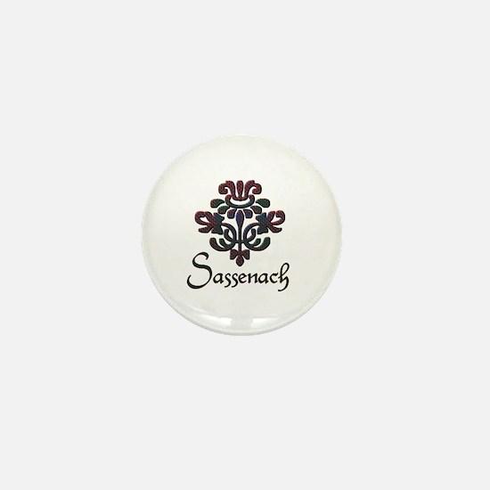 Plaid Thistle Sassenach Mini Button