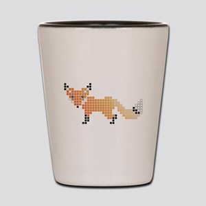 Pixel Fox Shot Glass