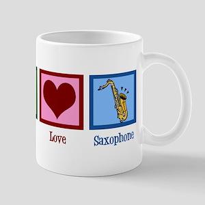 Peace Love Saxophones Mug