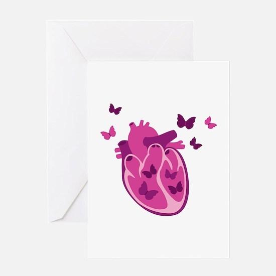 Butterflies Heart Greeting Cards