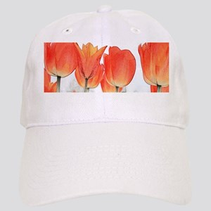 gorgeous red, orange color art style  tulip fl Cap