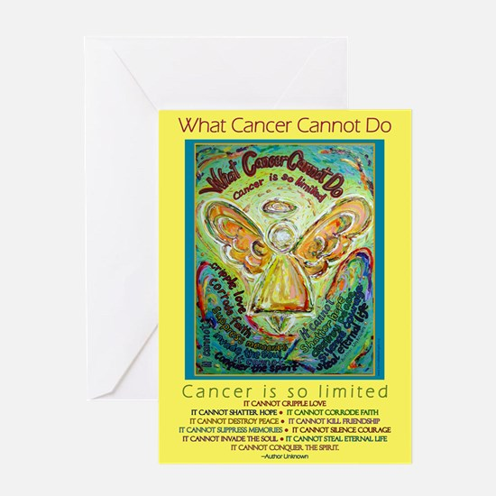 Rainbow Cancer Angel Greeting Card