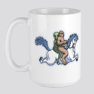 Bigfoot Alien Unicorn Large Mug