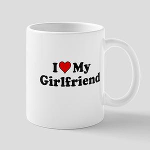 I Heart my Girlfriend Mugs
