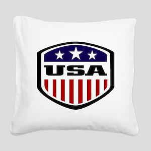 WC14 USA Square Canvas Pillow