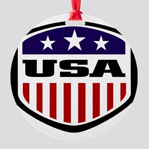 WC14 USA Round Ornament