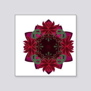 "rose pattern Square Sticker 3"" x 3"""