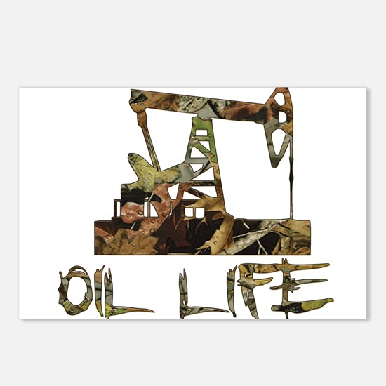 Camo Oil Life Postcards (Package of 8)