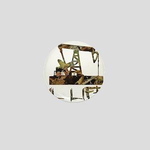 Camo Oil Life Mini Button