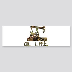 Camo Oil Life Bumper Sticker