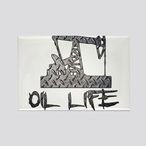 Diamond Plate Oil Life Pumpjack Magnets