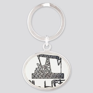 Diamond Plate Oil Life Pumpjack Keychains