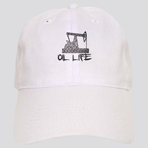 Diamond Plate Oil Life Pumpjack Baseball Cap