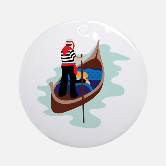 Gondola Venice Ornament (Round)