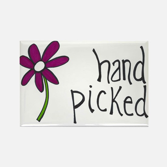 Hand Picked Rectangle Magnet