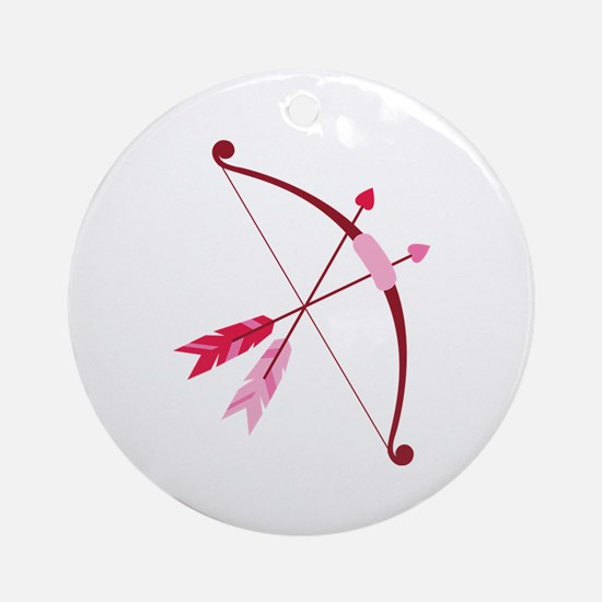 Cupid Bow And Arrow Ornament (Round)