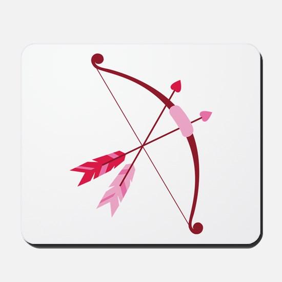 Cupid Bow And Arrow Mousepad
