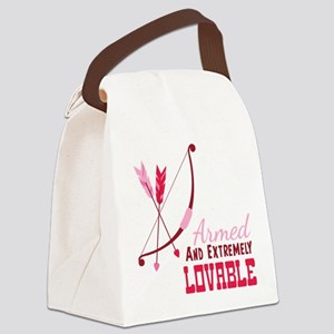 Armed AND EXTREMELY LOVABLE Canvas Lunch Bag