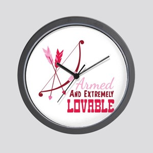 Armed AND EXTREMELY LOVABLE Wall Clock