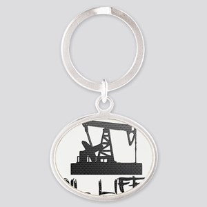 Honeycomb Oil Life Pumpjack Keychains