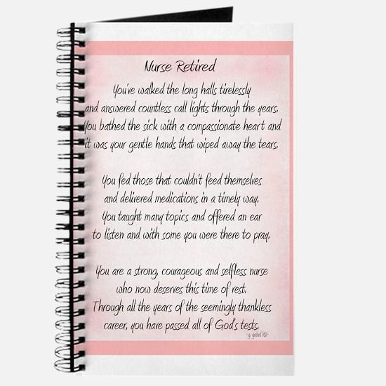 Nurse Retired Poem Journal