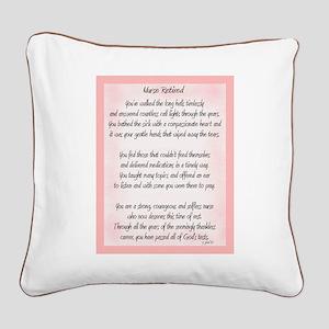 Nurse Retired Poem Square Canvas Pillow