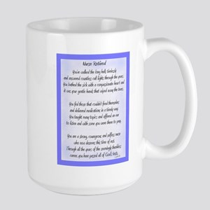 Nurse Retired Poem Blue Mugs