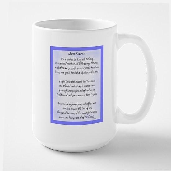 Nurse Retired Poem Blue Mugs