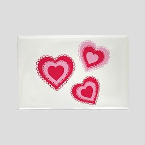 Doily Hearts Magnets