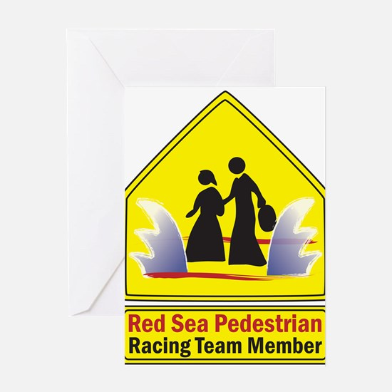 Red Sea Pedestrian Greeting Cards