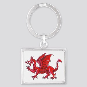 Red Dragon Passant Keychains